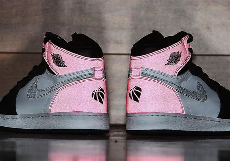 new valentines jordans air 1 gg black pink s day 2017