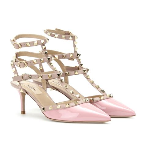 10 Best Valentino Shoes by Valentino Rockstud Kitten Heel Patent Leather Pumps In