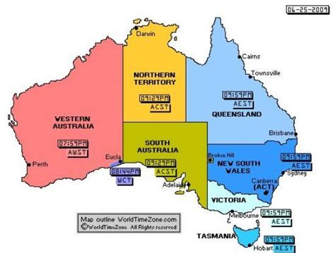 australia at time australian eastern time zone add 30 minutes going east