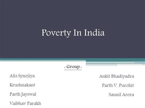 Poverty In India Authorstream Poverty Powerpoint Template