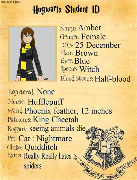 Hochzeitseinladung Harry Potter by My Hogwarts Student Id By Amber11eevee On Deviantart