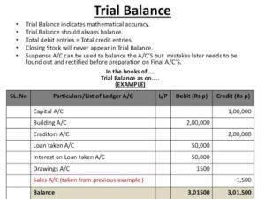 trial balance preparation accountants skills