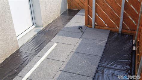 einbau auf bitumenbahn oder dachfolie warco bodenbel 228 ge - Warco Balkonbelag