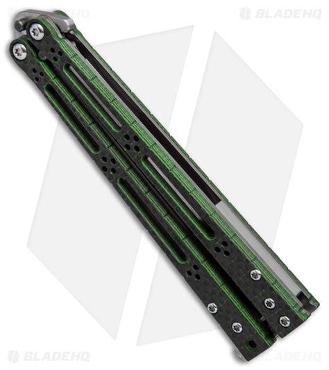 hom designs hom design basilisk r balisong butterfly knife green