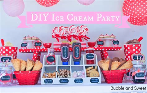 Pink And Green Home Decor by Bubble And Sweet Make Your Own Ice Cream Party For Bubble