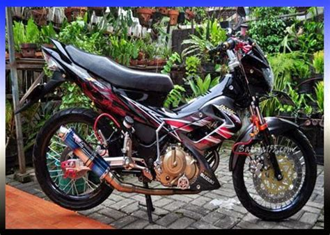 Gambar Motor Kalong by Foto Modifikasi Satria Fu New Drag Style Myotomotif