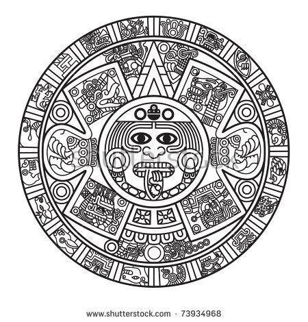 aztec pattern logo aztec calendar stock images royalty free images vectors