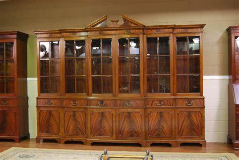Large Mahogany China Cabinet   Six Door Breakfront   eBay