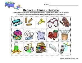reduce reuse recycle worksheet have fun teaching