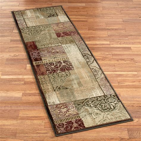 block rug ornate block rug runner