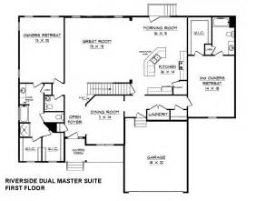 Dual Master Suite House Plans Riverside C Dual Master Suite House Plan Schumacher Homes