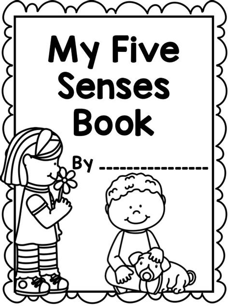 printable book poster the five senses printable worksheets mini book