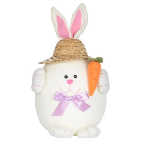 Easter Bunny Decor by Easter Bunny Rabbit Decoration Decor With Straw Hat New