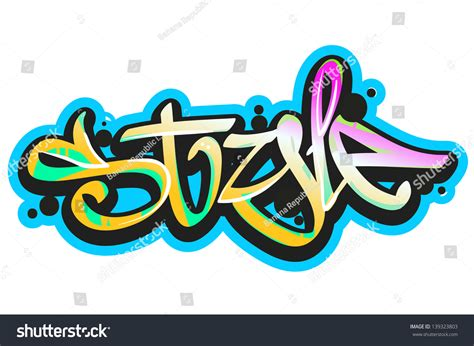 graffiti vector design elements 25x eps graffiti vector art urban design element stock vector