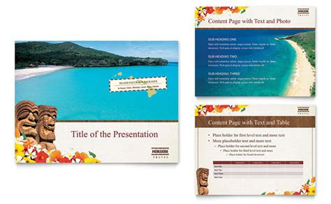 Hawaii Travel Vacation Powerpoint Presentation Template Design Microsoft Powerpoint Templates Tourism