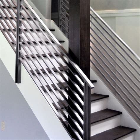 Metal Handrails For Stairs Interior by Modern Metal Stair Railings Interior Stairs Design Ideas