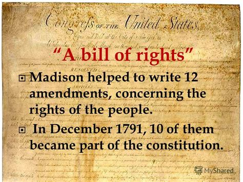 what section of the constitution is the bill of rights презентация на тему quot after the war for independence the