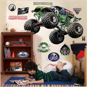 partybell com monster jam giant wall decals monster jam 3d giant wall decals birthdayexpress com