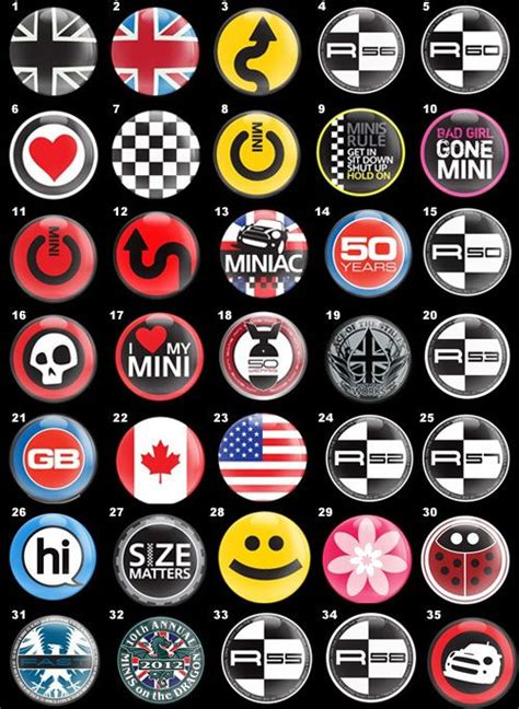 Tempelan Emblem Badge Mini Enkei quot go badge quot badge inserts dome mini cooper convertible minis badges and mini