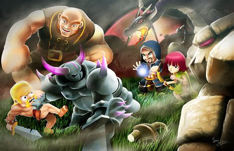 wallpaper android coc clash fanart wallpapers android apps on google play