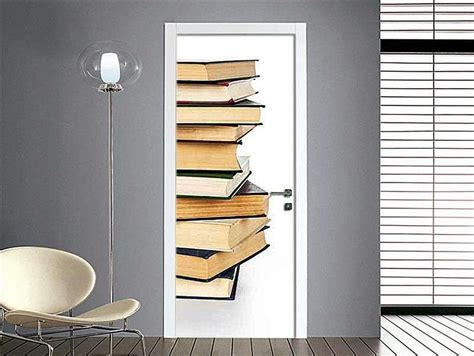 carta da parati per porte interne decorare una porta con la carta da parati foto design mag