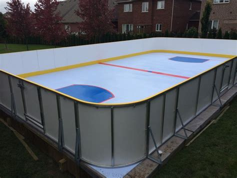 best 25 backyard rink ideas on