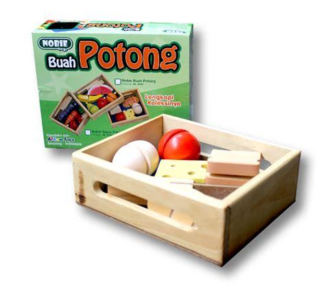 Mainan Kayu Roti Potong nobie buah potong seri mainan kayu