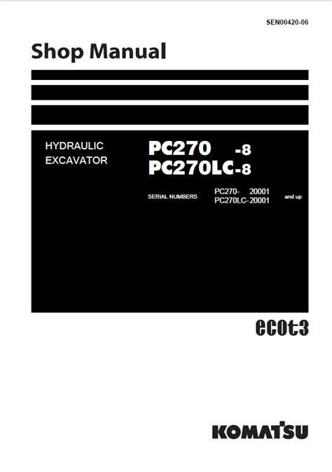 Shop Manual Komatsu Wa150 5 komatsu pc270 8 pc270lc 8 hydraulic excavator shop manual pdf sen00420 06