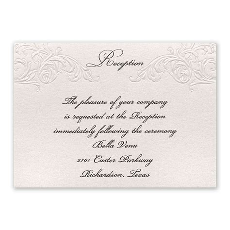 elegance and grace reception card invitations by