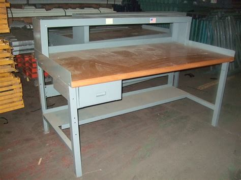 used metal work bench new used workbenches stanley vidmar equipto