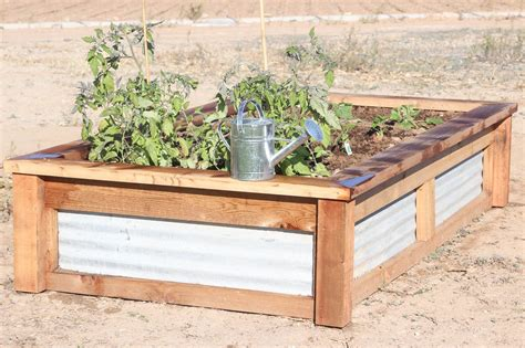 Raised Vegetable Garden Beds Corrugated Iron How To Build Raised Garden Beds With Corrugated Metal Ehow