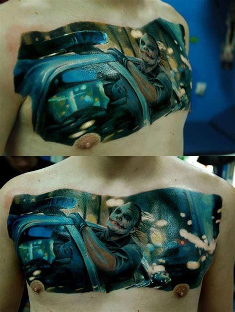 tattoo joker chest 35 awesome realistic tattoo designs amazing tattoo ideas