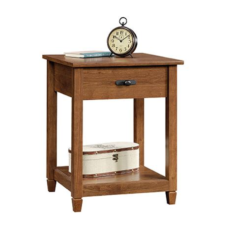 sauder edge water side table sauder edge water side table auburn cherry boscov s