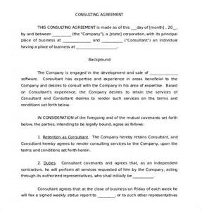 consulting contracts templates 12 consulting agreement templates free sle exle