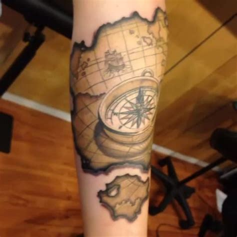 compass and map tattoo 1000 ideas about map compass on a compass