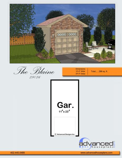 traditional garage plan blaine