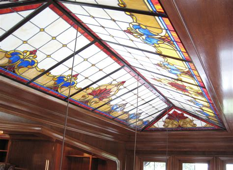 stained glass ceiling flux design custom fabrication in portland or