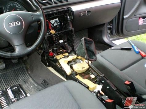 Audi A4 B6 Handschuhfachdeckel Ausbauen by Umbau Auf Doppeldin Radioschacht A4 8e B6 B7