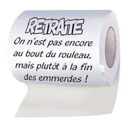 rouleau papier wc retraite achat vente cadeau