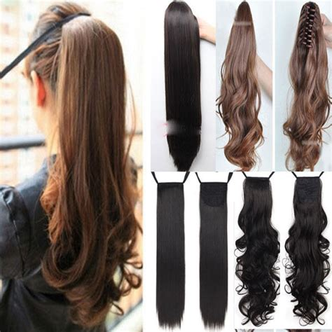 how to use ponytail hair extensions clip in ponytail pony hair extension wrap on hair