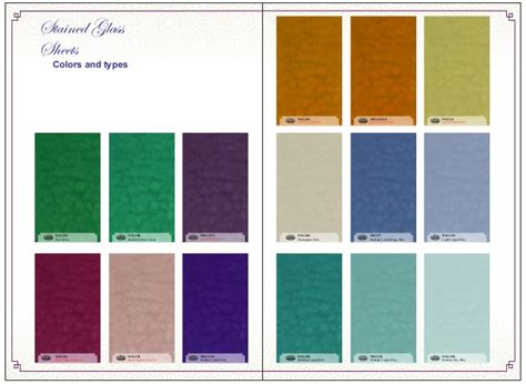 glass color glass stained glass sheets color and style