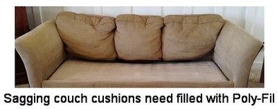 poly fill for couch cushions how to fix sagging furniture cushions removeandreplace com