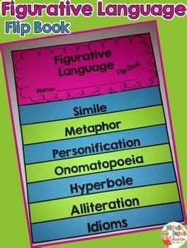 picture books with figurative language figurative language activity flip book flip books
