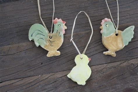 Handmade Ceramic Decorations - handmade ceramic decoration type1 family cotswold chickens