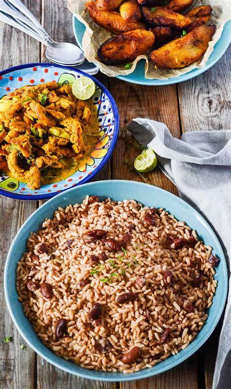 printable jamaican recipes jamaican rice and peas recipe healthier steps