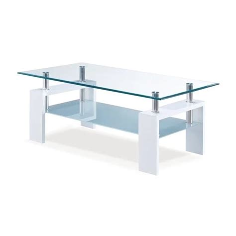 frosted glass table l global furniture frosted glass coffee table in glossy