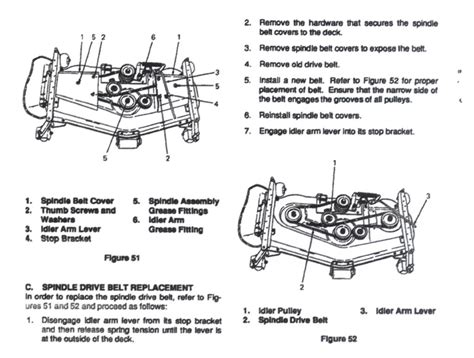 brush belt pattern mower deck belt routing for dr field mower