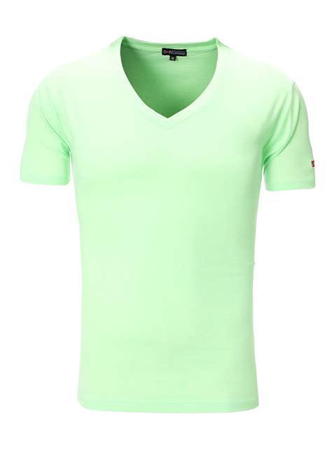 Tshirt Green Light geographical t shirt v neck light green