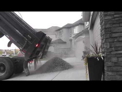 Load Of Gravel Delivered Dump Truck Split Load Topsoil Gravel Delivery In