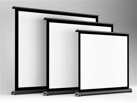 projector screen curtain 60 inch 16 9 white glass curtain pull up standing